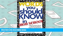 Audiobook  Words You Should Know In High School: 1000 Essential Words To Build Vocabulary, Improve