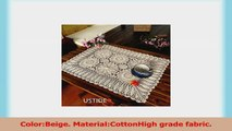 Ustide 2pc Rustic Crochet Floral Table Runners Hand Crochet Table Doilies Rectangular 814216d0