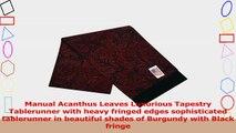 Manual Acanthus Scroll Leaves Heavy Fringe Edge Tapestry Tablerunner EUMB72 125x72 2dcd42e2