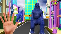 Godzilla Finger Family Rhymes | ABC Song | SuperHeroes Subway Surfers Thomas Train Finger Family 3D