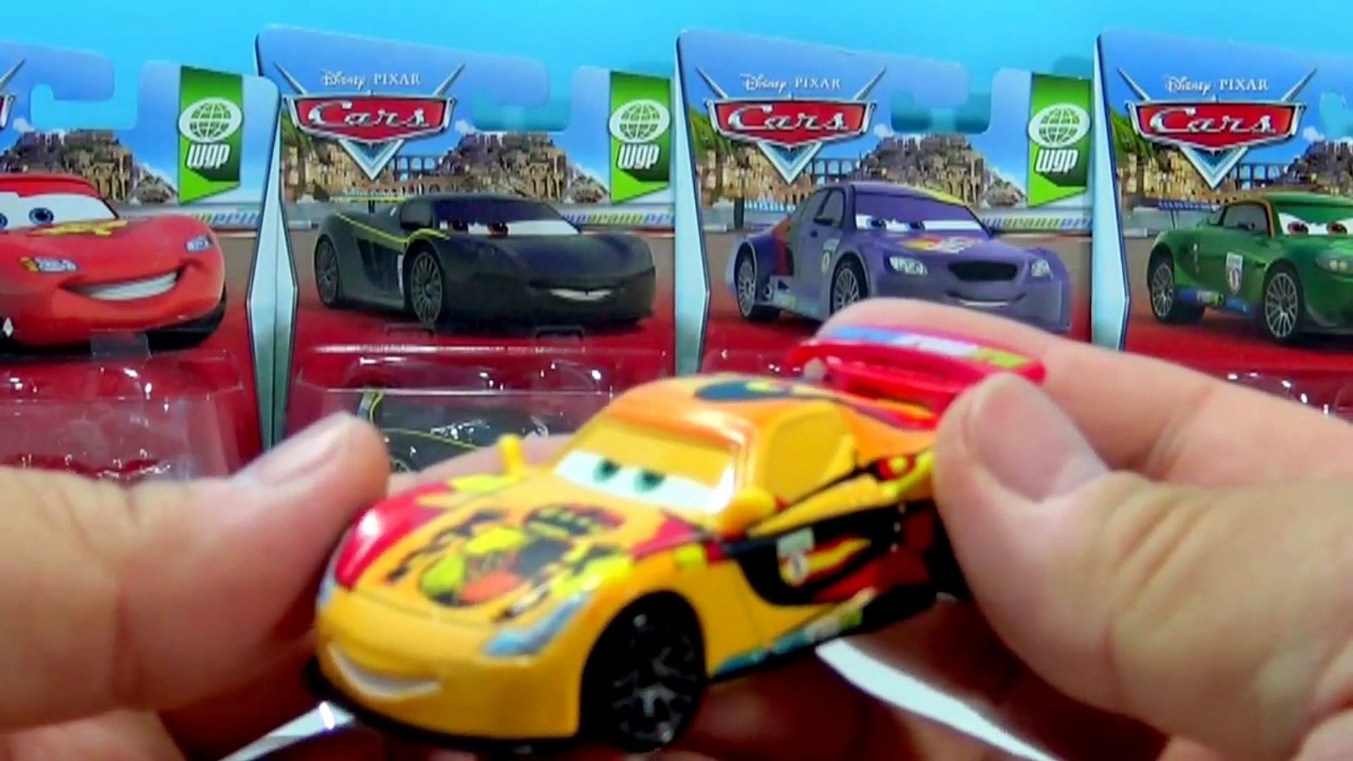 Complete Set Of Disney Pixar Cars World Grand Prix Racers 2016 Lightning Mcqueen Rip Franc Video Dailymotion