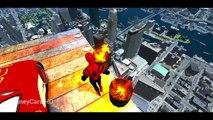Mack Truck, Lightning McQueen Disney Cars w/ Spiderman, Jumping Ramp & Stunts, Nursery Rhy