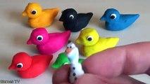 Play Doh Surprise Eggs Nursery Rhymes | Five Little Ducks Playdough Surprise Toy