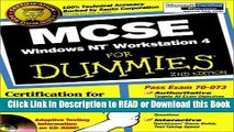 Read Book MCSE Windows NT? Workstation 4 For Dummies? (For Dummies (Computers)) Free Books