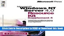 [Download] Microsoft Windows NT Server 4.0 Resource Kit Supplement 4 (It-Resource Kit) Read Online