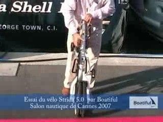 Vélo Pliant Strida - Salon Cannes 2007
