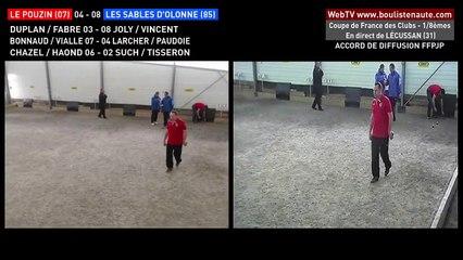 Coupe de France des Clubs de pétanque à LECUSSAN : les doublettes Le Pouzin VS Les Sables d'Olonne