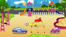 Carritos para niños - Carros de Carreras y Coche de Policía   Dibujos animados de coches para Niños