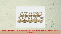 OUNONA 10pcs 110 Wodden Table Numbers with Holder Base for Wedding or Birthday Wood e91c9729