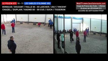 Coupe de France des Clubs de pétanque à LECUSSAN : les triplettes Le Pouzin VS Les Sables d'Olonne