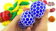 Learn Fruits And Vegetables with Play Doh Surprise Egg | Learn to Count with Fruits And Vegetables