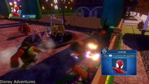 Spiderman saves Donald Duck and Lightning McQueen from jail!! Water slides Playt