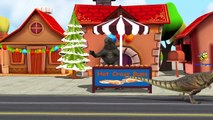 Godzilla Cartoon Singing Hot Cross Buns Rhymes | Wheels On The Bus And Finger Family Nurse