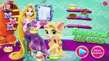 La princesa Rapunzel Palacio del animal doméstico del Verano del Bebé de Mascotas Juegos de Cuidar del Gato de Baño de la Película