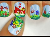 Angry Birds - Valentines Day Heart Nail Art Tutorial - Valentines Day Nails for Valentines Day Nail Art Valentines Day nail designs 2