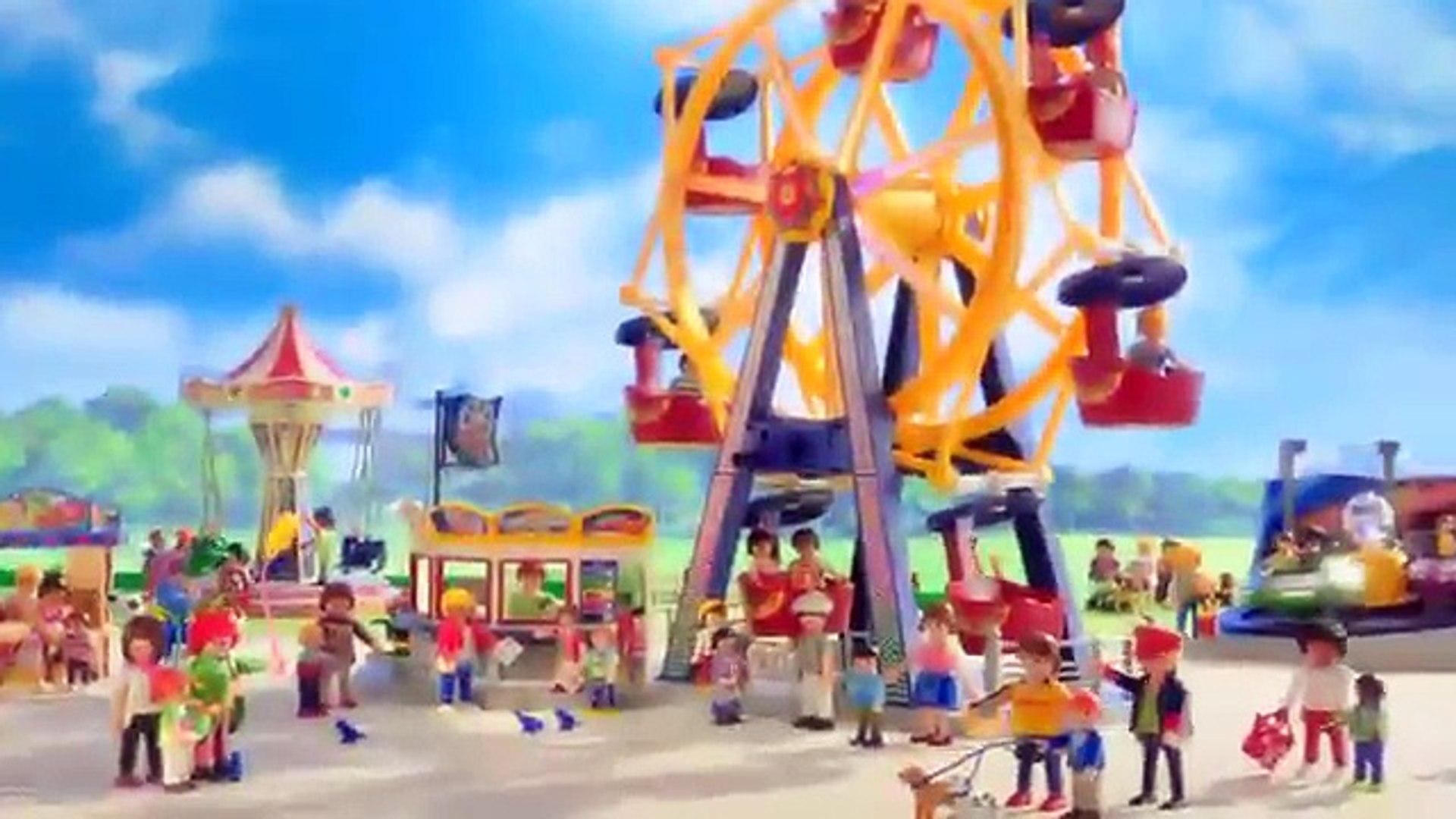 Playmobil Summer Fun - Kermis - Groot draairad 5552, Zweefmolen 5548 & Breakdance 5554