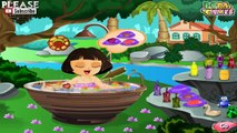 Dora Cute Bathing Game for kids girls cartoon # Play disney Games # Watch Cartoons วาดการ์