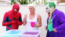 Spiderman Cooking Big Mac with Frozen Elsa & Hulk - Fun Superheroes Movie In Real Life-XYB
