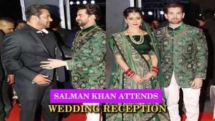 Salman Khan Attends Neil Nitin Mukesh and Rukmini's Wedding Reception