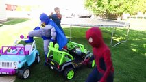 FUN Ride on Car Superhero Car Dance! Power Wheels Carpool! Batman, Superman | Comic Street