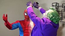 JOKER VS SPIDERMAN BOWLING CHALLENGE!! Superhero Fun In Real Life Fight Movie IRL-ym1gdh