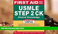 Audiobook  First Aid for the USMLE Step 2 CK, Ninth Edition (First Aid USMLE) Tao Le For Ipad