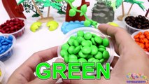Learning Colors for Children with M&M Candy and The Good Dinosaurs-oK