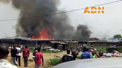 Incendie à Akouédo