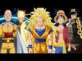 "One piece, Naruto, Dbz, One punch man ""AMV fighting"""