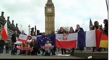 Des Européens de Londres manifestent contre le Brexit alors que le texte est examiné par le Parlement