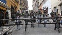 Sindicatos bolivianos marchan en las calles de La Paz en contra del Gobierno