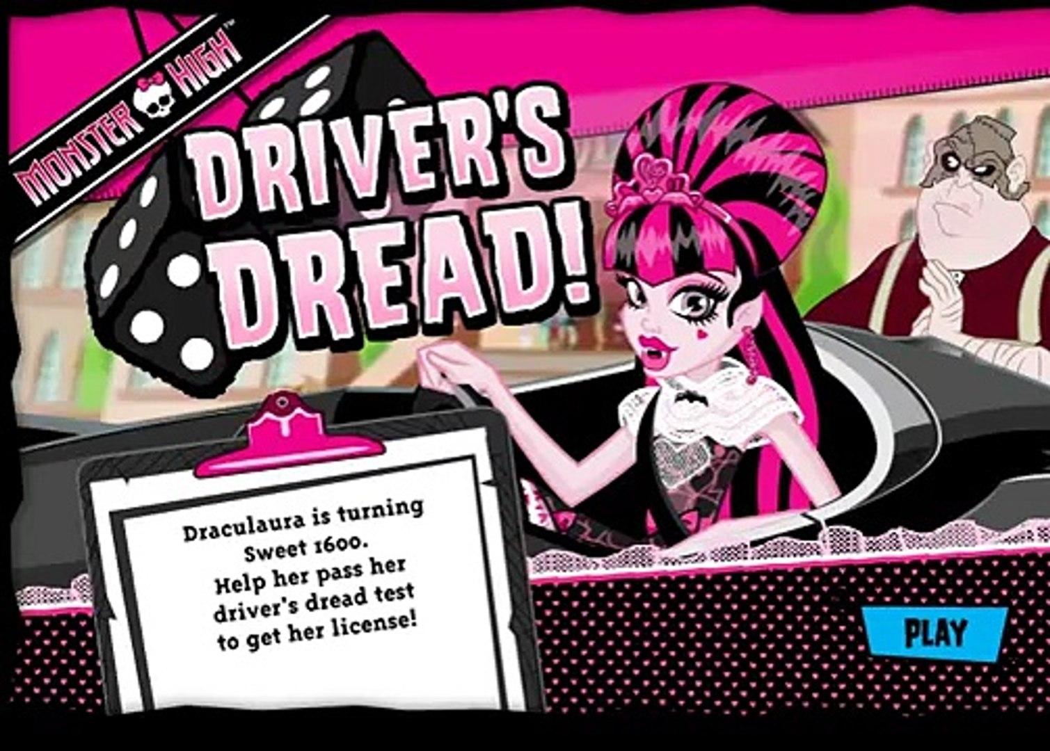 Monster High Drivers Dread (Дракулаура учится водить) - прохождение игры