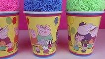 Peppa pig Clay Surprise Eggs Surprise Foam Cups Ice Cream Cups Disney Minnie Mouse Toys Dinosaur
