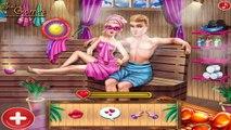 Super Barbie Sauna Flirting: Barbie Kissing Ken At Sauna! Super Barbie Sauna Flirting