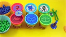 LEARN COLORS with PJ Masks! Learn Colors with Disney Jr, PJ Masks toys Play doh Learn Colors