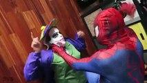 UGLY FROZEN ELSA LOSES HER EARS! w/ Spiderman vs Joker, Anna Pink Spidergirl Maleficent -
