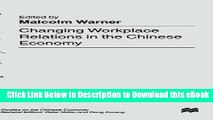 eBook Free Changing Workplace Relations in the Chinese Economy (Studies on the Chinese Economy)