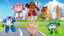 Robocar Poli Finger Family Song Surprise Eggs - Helly Amber Roy Poli Nursery Rhymes Cartoo