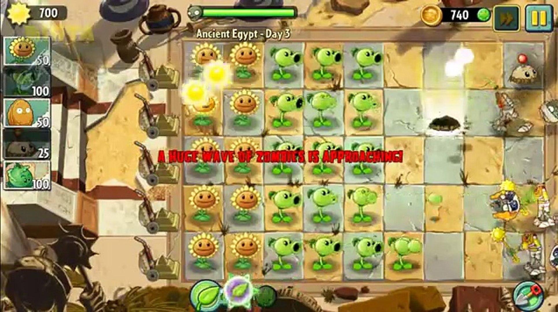 Растения против зомби 2 Древний Египет день 3 день 9