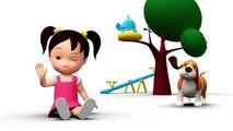Inglés para niños miau-miau compendio de series de 16 a 20 de la serie de aprender inglés