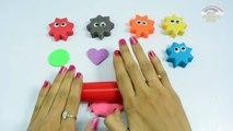 Aprender los Colores para Niños de Pintura Corporal con Play Doh Estrellas y de los Dedos de la Familia Rimas de cuarto de niños