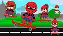 #Spiderman Skateboarding Halfpipe SpiderGirl, Spidermom Spiderboy, Spider baby | #Animation