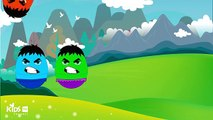 Surprise Eggs Hulk Superheroes Ironman Batman Superman Toys Colors for Kids to Learn
