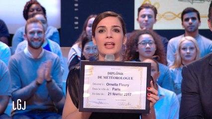 Ornella diplômée - Le Grand Journal du 21/02 - CANAL+