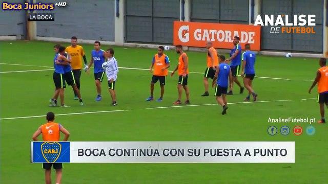 Jonathan Silva e Insaurralde aos murros em direto durante o treino do Boca Juniors