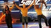 WWE Roman Reigns Dean Ambrose & John Cena Vs Bray Wyatt Erick Rowan & Seth Rolli