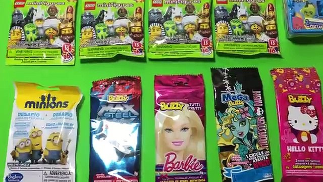 NEW 10 Mystery Blind Bags Barbie Lego Minifigures, Minions, Shopkins and More! Miniature M