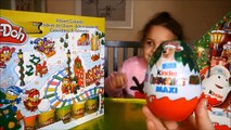 Play Doh and Kinder Surprise Christmas Advent Calendar Day 6 The Peanuts movie Maxi Kinder