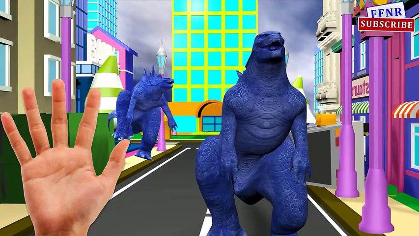 Los Dinosaurios Vs Gorila Vs Godzilla Dedo De La Familia De Las Canciones De Cuna A Los Niños Canciones   Dinosaurios Corto