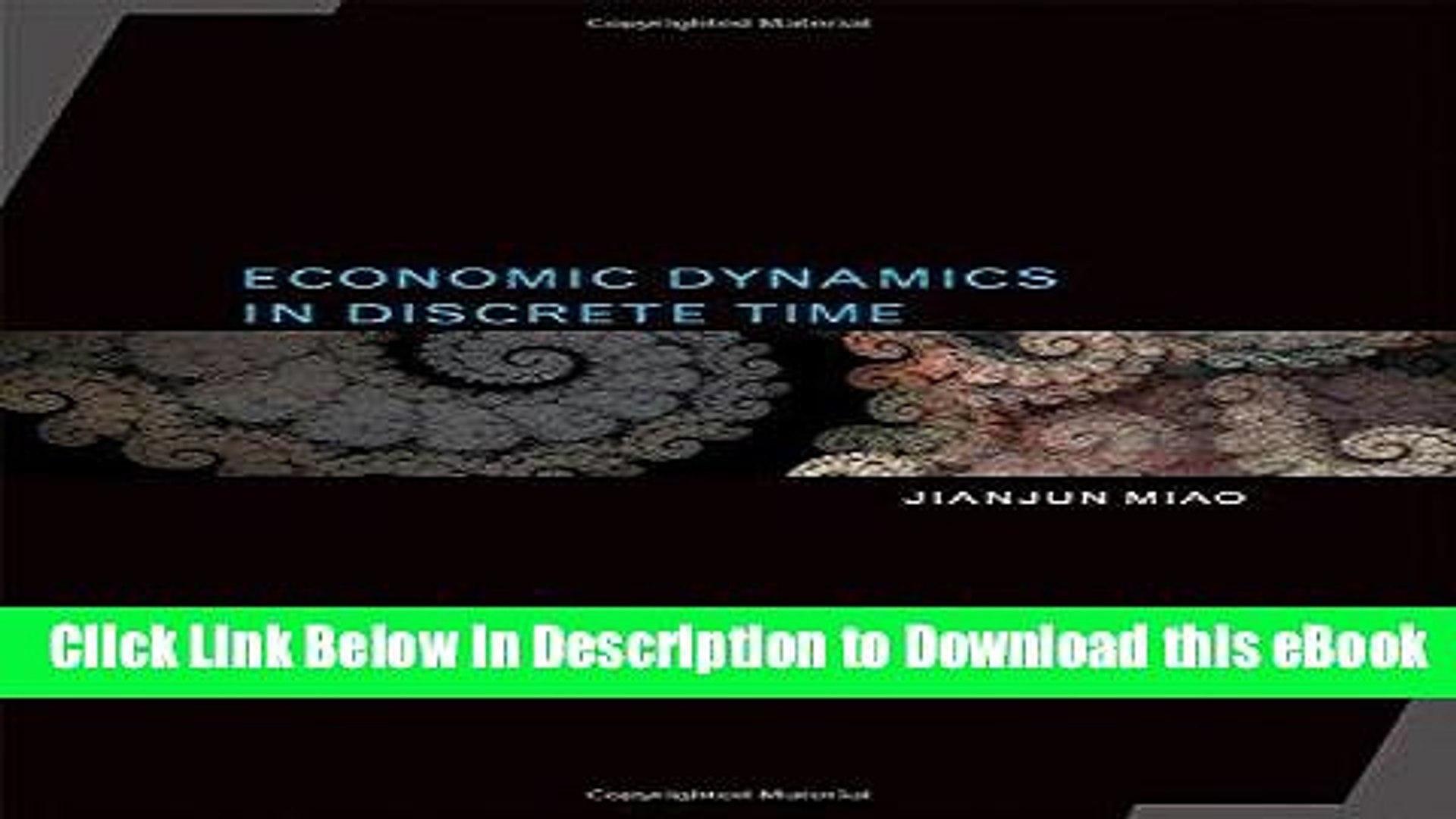 Economic Dynamics in Discrete Time